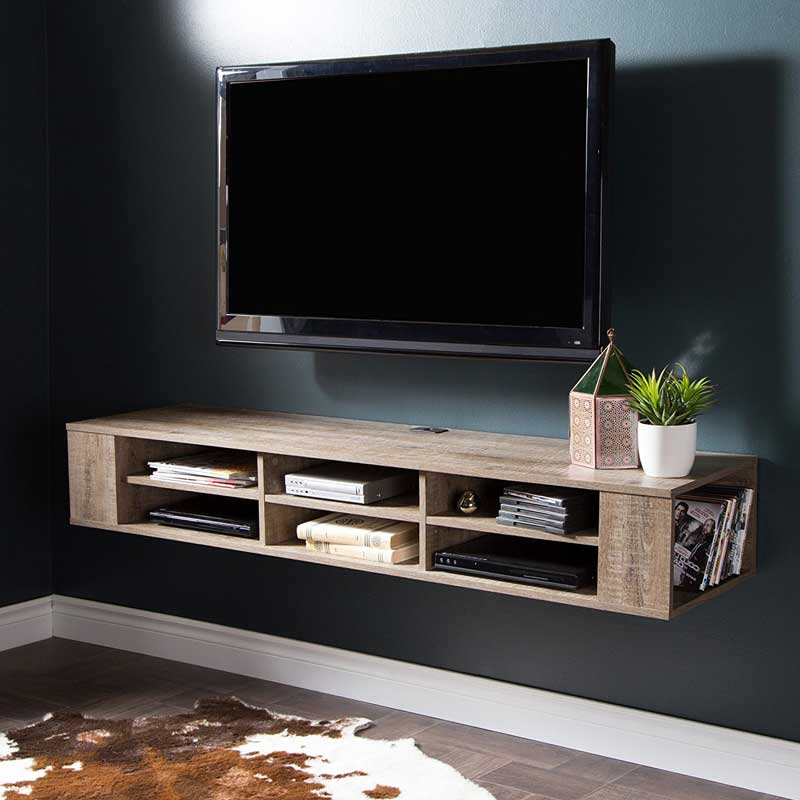 I See So Few Rustic Media Consoles That It S A Surprise Whenever Do The South Floating Tv Unit Has Such Beautifully Weathered Oak M Tempted