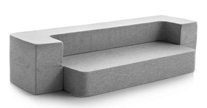 if you want a comfortable folding guest bed thatu0027s light and mobile the lucid floor sofa is just the thing to complete your space