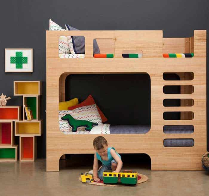 With the Scoop Bunk Bed there\u0027s no need for a pillow fort! Kids can fortify themselves in this bunk bed cleverly disguised as a modern play castle. & 13 Great Bunk Beds For Children \u2013 Vurni