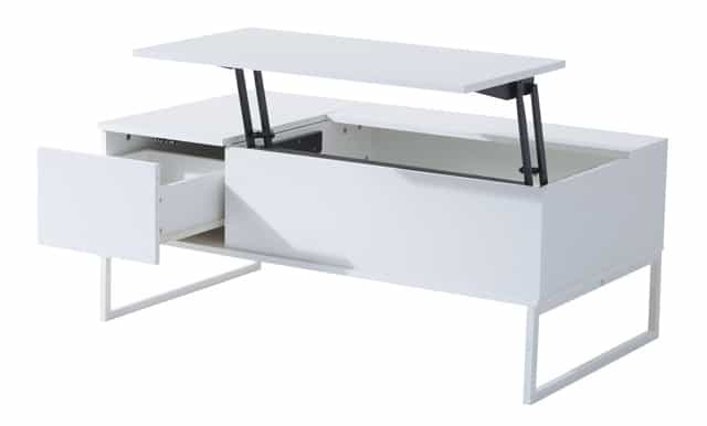Able To Fold And Rise At Different Levels, The HomCom Lift Top Coffee Table  Also Doubles As A Desk And Dining Table.