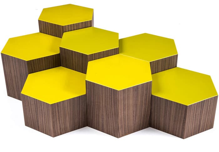SIX A Collection Hexagonal Coffee Tables