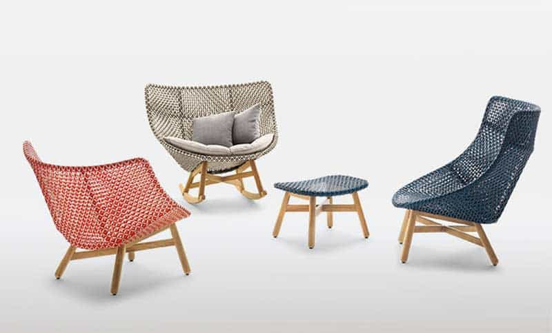 Carefully Woven Onto A Teak Frame, This Durable Outdoor Chair Is Both  Colorful And Comfortable.