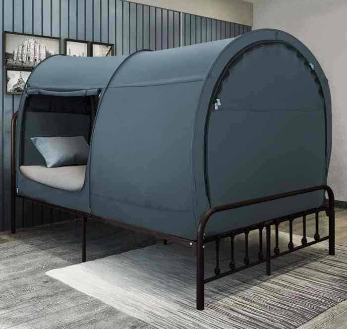 Leedor privacy bed tent for kids and adults vurni - Canopy bed ideas for adults ...